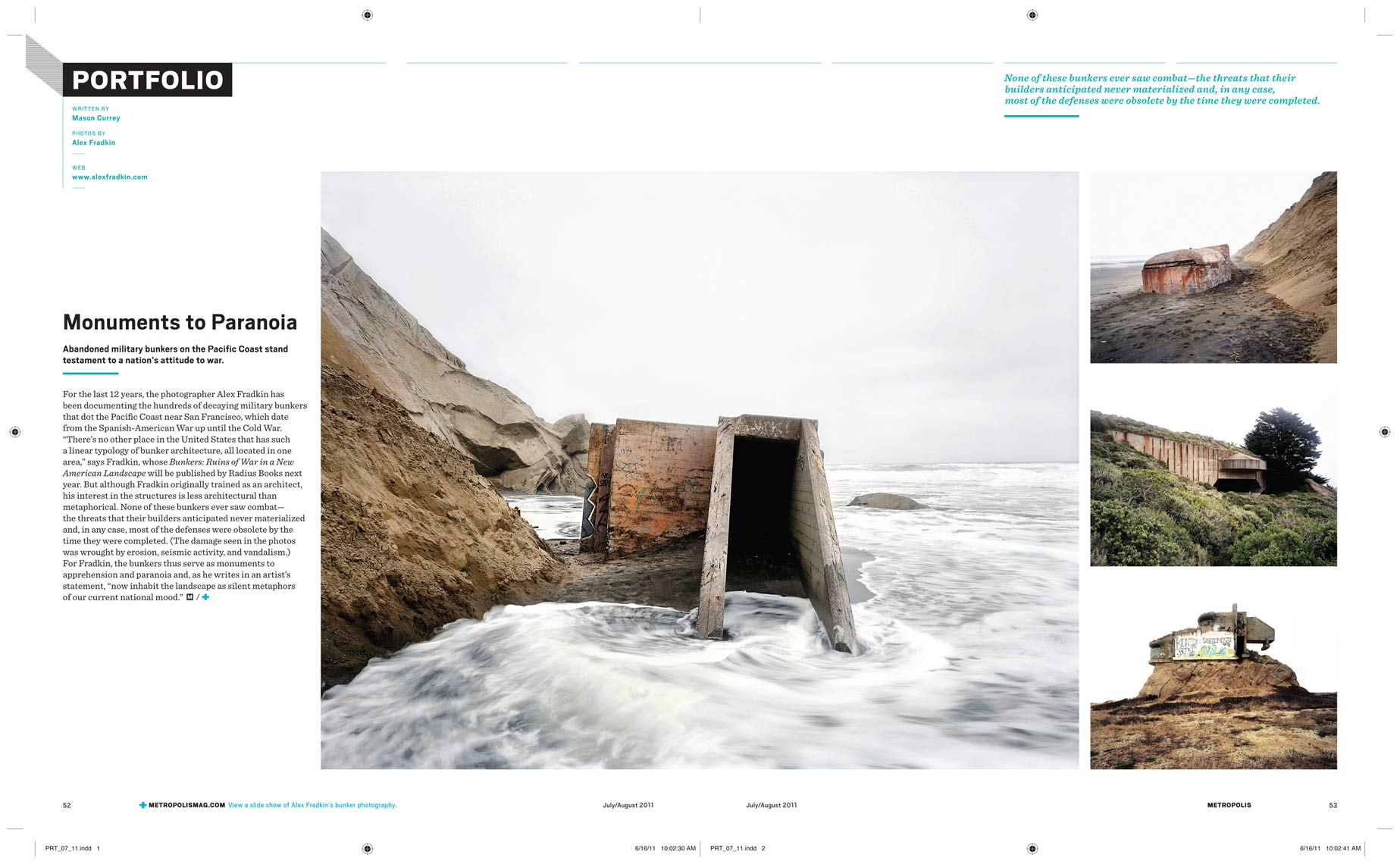 "METROPOLIS | Press for ""The Bunker Project"" by Alex Fradkin"