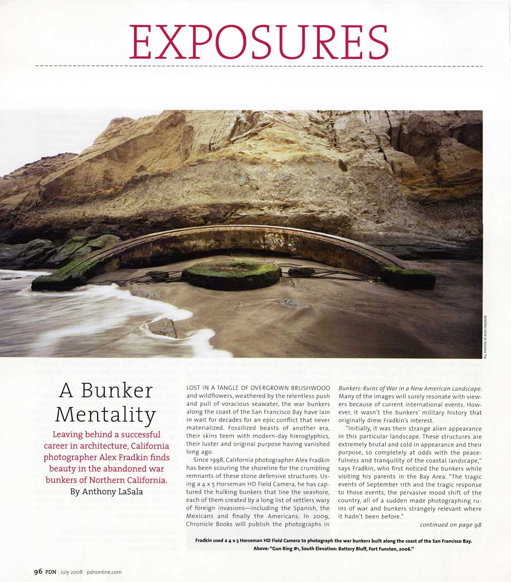 "PDN | Press for ""The Bunker Project"" by Alex Fradkin"